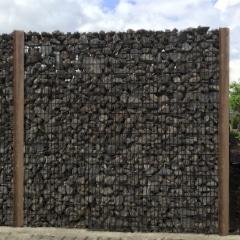 gabion poteaux bois dur