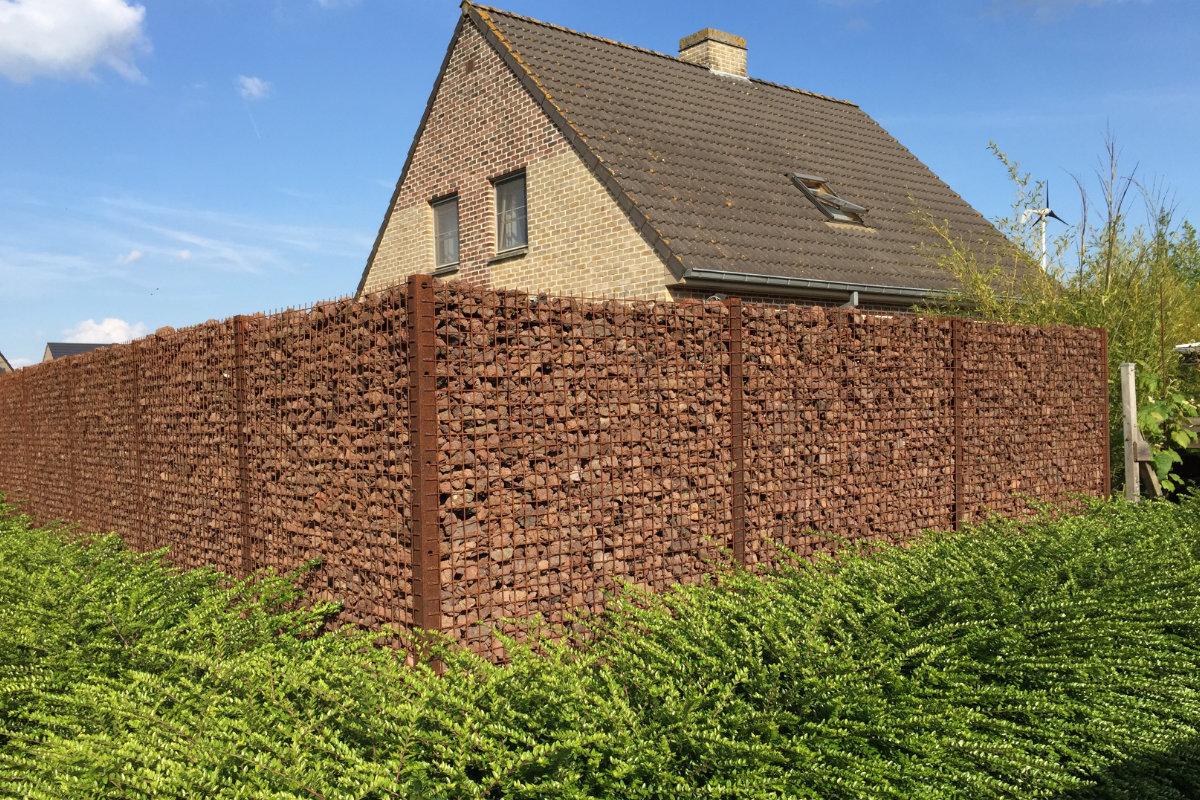 Installer des paniers de pierres gabions info conseil de prix - Cloture jardin prix colombes ...