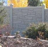 cloture plastique imitation beton